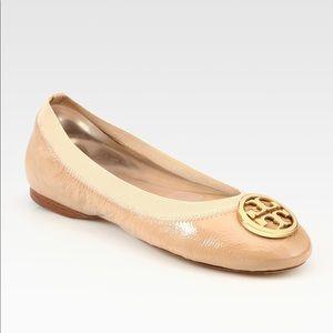 Tory Burch • Caroline ballet flats patent logo 7